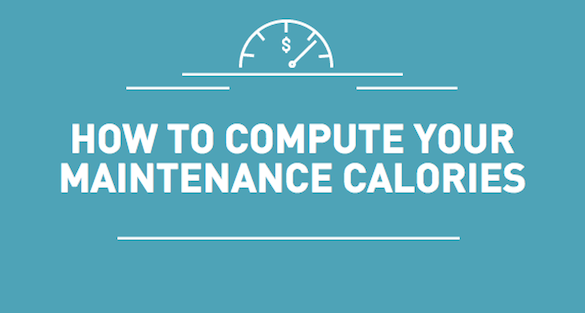 How to Compute Your Maintenance Calories
