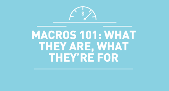 Macros 101: What They Are, What They're For