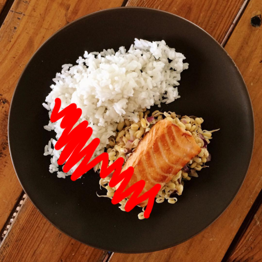 salmon and rice healthy meal weight loss
