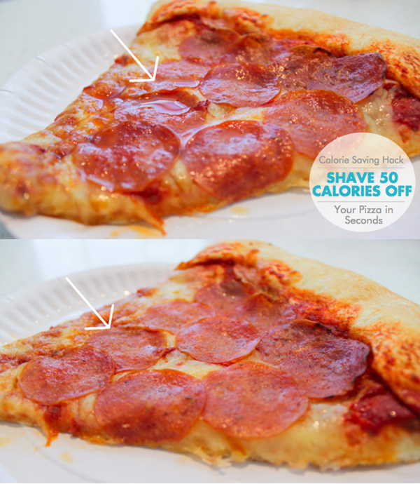 Calorie Saving Hack: Shave 50 Calories Off Your Pizza in Seconds