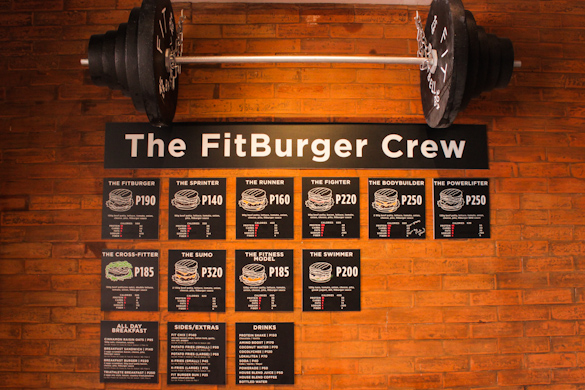 fit burger menu